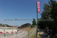 Tribune A, GP Barcelone<br />Circuit de Catalogne Montmelo<br />Grand Prix de Catalogne motos